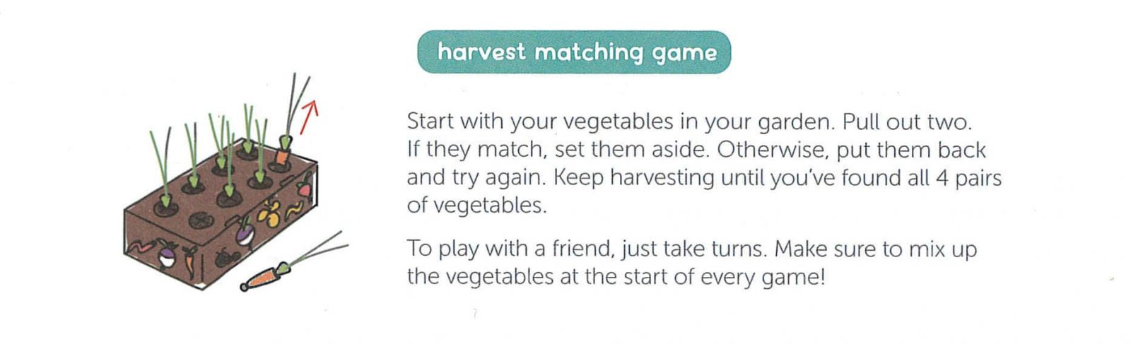 Harvest Matching Game instructions - Koala Crate