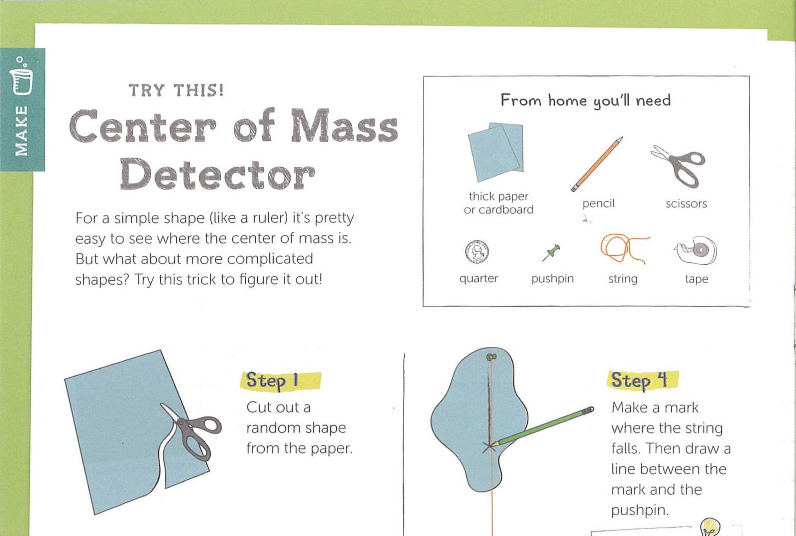 Center of Mass Detector example instructions - Tinker Crate