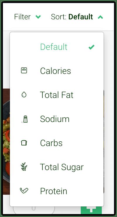 Sort Meals - Freshly