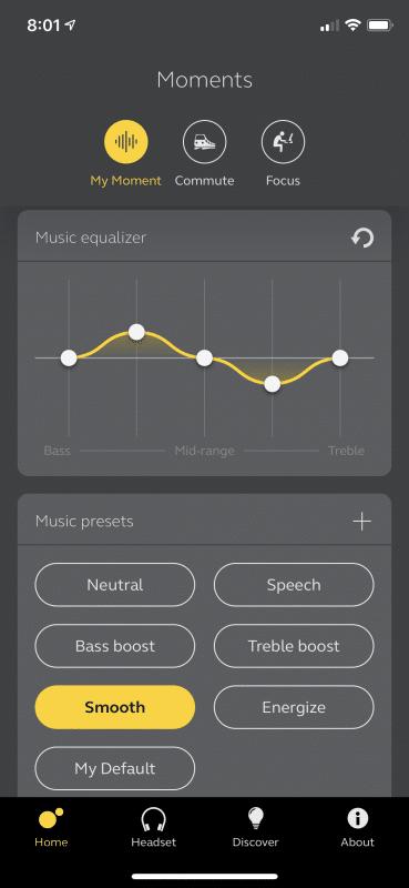 EQ - Jabra Sound+ App