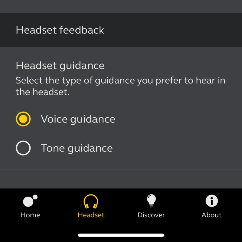 Headset Feedback - Jabra Sound+ App