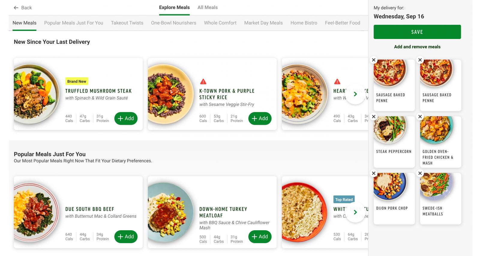 Choosing Meals - Freshly